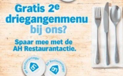 restaurant actie van AH
